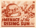 "Movie Posters:Documentary, Menace of the Rising Sun (Universal, 1942). Title Lobby Card (11"" X14"").. ..."