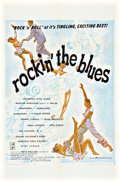 "Movie Posters:Rock and Roll, Rockin' the Blues (Austin Productions, 1956). One Sheet (27"" X41"").. ..."