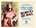 "Movie Posters:Drama, Born to Be Bad (20th Century Fox, 1934). Title Lobby Card (11"" X 14"").. ..."