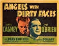 "Movie Posters:Crime, Angels with Dirty Faces (Warner Brothers, 1938). Title Lobby Card(11"" X 14"").. ..."