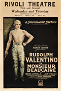 "Movie Posters:Drama, Monsieur Beaucaire (Paramount, 1924). Window Card (14"" X 22"").. ..."