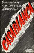 Movie Posters:Drama, Casablanca (Warner Brothers, 1942). Pressbook (Multiple Pages)..... (Total: 2 Items)