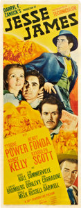 "Movie Posters:Western, Jesse James (20th Century Fox, 1939). Insert (14"" X 36"").. ..."