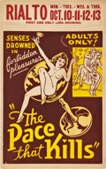 "Movie Posters:Drama, The Pace That Kills (Willis Kent Productions, 1935). Window Card(14"" X 22"").. ..."