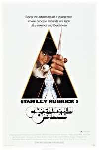"A Clockwork Orange (Warner Brothers, 1971). One Sheet (27"" X 41"") X-Rated Style"