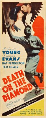 "Death on the Diamond (MGM, 1934). Insert (14"" X 36"")"