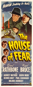 "Movie Posters:Mystery, The House of Fear (Universal, 1945). Insert (14"" X 36"").. ..."