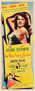 """Movie Posters:Musical, You Were Never Lovelier (Columbia, 1942). Insert (14"""" X 36"""").. ..."""