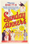 "Movie Posters:Black Films, Sunday Sinners (International Road Shows, 1940). One Sheet (27"" X 41"").. ..."