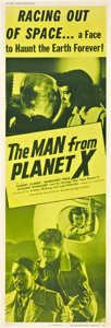 "Movie Posters:Science Fiction, The Man from Planet X (United Artists, 1951). Door Panel (20"" X 60"").. ..."