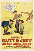 "Movie Posters:Animated, Mutt & Jeff - An Ace and a Joker (Fox, 1918). One Sheet (27"" X41"").. ..."