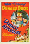 "Movie Posters:Animated, Donald Applecore (RKO, 1952). One Sheet (27"" X 41"").. ..."