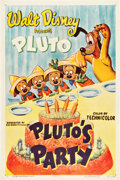 "Movie Posters:Animated, Pluto's Party (RKO, 1952). One Sheet (27"" X 41"").. ..."