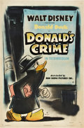 "Movie Posters:Animated, Donald's Crime (RKO, 1945). One Sheet (27"" X 41"").. ..."