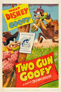 "Movie Posters:Animated, Two Gun Goofy (RKO, 1952). One Sheet (27"" X 41"").. ..."