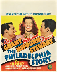 "The Philadelphia Story (MGM, 1940). Jumbo Window Card (22"" X 28"")"