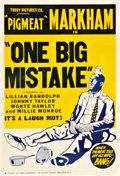 "Movie Posters:Black Films, One Big Mistake (Toddy, 1940). One Sheet (28.25"" X 40.5"").. ..."