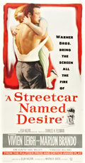 "Movie Posters:Drama, A Streetcar Named Desire (Warner Brothers, 1951). Three Sheet (41""X 81"").. ..."
