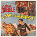 "Movie Posters:Western, Law of the West (Sono Art-World Wide Pictures, 1932). Six Sheet(81"" X 81"").. ..."