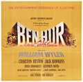 "Movie Posters:Historical Drama, Ben-Hur (MGM, 1959). Autographed Six Sheet (81"" X 81"").. ..."