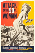 "Movie Posters:Science Fiction, Attack of the 50 Foot Woman (Allied Artists, 1958). Poster (40"" X60"").. ..."