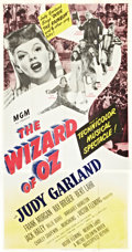 """Movie Posters:Fantasy, The Wizard of Oz (MGM, R-1949). Three Sheet (41"""" X 81"""").. ..."""