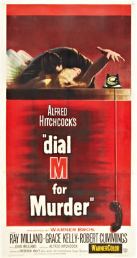 "Dial M for Murder (Warner Brothers, 1954). Three Sheet (41"" X 81"")"