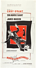 """Movie Posters:Hitchcock, North by Northwest (MGM, 1959). Three Sheet (41"""" X 81"""").. ..."""