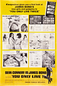 """You Only Live Twice (United Artists, 1967). Esquire Promo Poster (40"""" X 60"""")"""