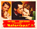 "Movie Posters:Hitchcock, Notorious (RKO, 1946). Lobby Card (11"" X 14"").. ..."