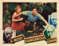 "Movie Posters:Thriller, The Most Dangerous Game (RKO, 1932). Lobby Card (10.9"" X 14"").. ..."