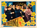 "Movie Posters:Comedy, Start Cheering (Columbia, 1938). Lobby Card (11"" X 14"").. ..."