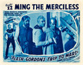"Movie Posters:Serial, Flash Gordon's Trip to Mars (Universal, 1938). Lobby Card (11"" X 14"") Chapter 12 -- ""Ming the Merciless."". ..."