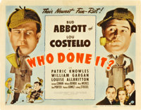 """Who Done It? (Universal, 1942). Title Lobby Card (11"""" X 14"""")"""