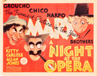 """A Night at the Opera (MGM, 1935). Title Lobby Card (11"""" X 14"""")"""