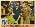 "Movie Posters:Crime, Dead End (United Artists, 1937). Lobby Card (11"" X 14"").. ..."