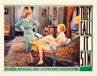 """They Call It Sin (Warner Brothers, 1932). Lobby Card (11"""" X 14"""")"""