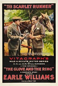"The Scarlet Runner (Vitagraph, 1916). One Sheet (27"" X 41"") Episode ""The Glove and the Ring."""