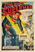 "Movie Posters:Serial, Atom Man vs. Superman (Columbia, 1950). One Sheet (27"" X 41"") Chapter 9 -- ""Superman Crashes Through!"".. ..."