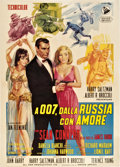 "Movie Posters:James Bond, From Russia with Love (United Artists, 1964). Italian 2 - Folio(39"" X 55"").. ..."