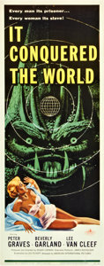 "Movie Posters:Science Fiction, It Conquered the World (American International, 1956). Insert (14""X 36"").. ..."