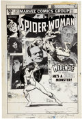 Original Comic Art:Covers, Frank Miller and Klaus Janson Spider-Woman #32 CoverOriginal Art (Marvel, 1980)....