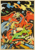 Original Comic Art:Covers, L. B. Cole Blue Bolt #105 Cover Recreation Original Art(undated)....
