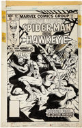 Original Comic Art:Covers, Al Milgrom and Bob McLeod Marvel Team-Up #92 Cover OriginalArt (Marvel, 1980)....