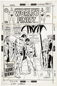Curt Swan and Mike Esposito World's Finest Comics #184 JLA Cover Original Art (DC, 1969)