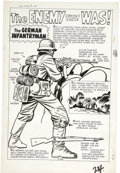 "Original Comic Art:Splash Pages, Jack Kirby and Dick Ayers Sgt. Fury #2 ""The Enemy That Was""Splash Page Original Art (Marvel, 1963)...."