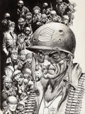 Original Comic Art:Splash Pages, Joe Kubert History of the DC Universe Portfolio Sgt. Rockand the DC War Characters Plate Illustration Original Ar...