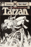 Original Comic Art:Covers, Joe Kubert Tarzan #243 Cover Original Art (DC, 1975)....