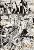 Original Comic Art:Panel Pages, Joe Kubert Justice League of America #200 Hawkman ChapterSeven Title Page 46 Original Art (DC, 1982)....