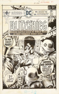 Original Comic Art:Covers, Joe Kubert Blitzkrieg #1 Cover Original Art (DC, 1976)....